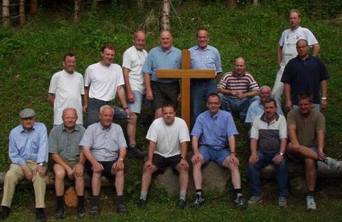 Gruppenfoto von den Handwerkern