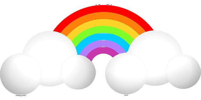 Ein Regenbogen.
