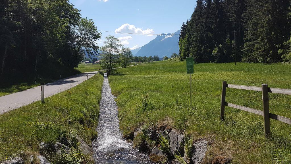 Straße von Schnifis nach Thüringen